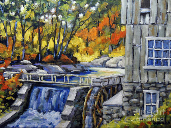 Art In Canada Painting - Mill Scene Woods By Prankearts by Richard T Pranke