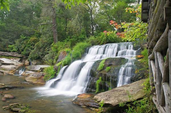Mill Shoals Falls Wall Art - Photograph - Mill Shoals Falls   Transylvania County Nc by Willie Harper