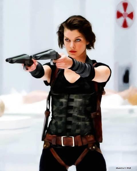 Digital Art - Milla Jovovich @ Resident Evil by Gabriel T Toro