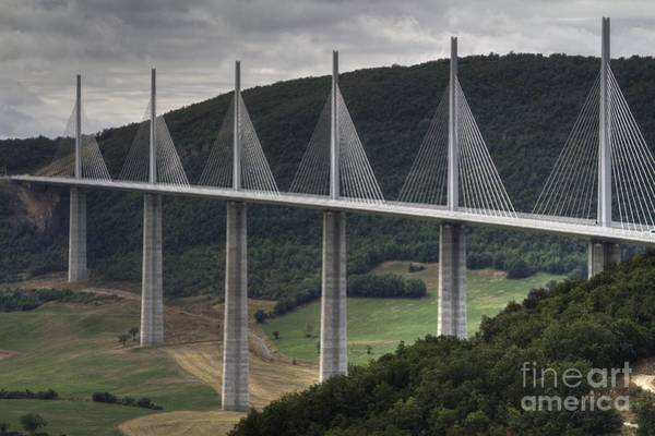 Photograph - Millau Viaduct In France by Heiko Koehrer-Wagner