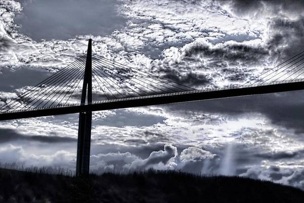 Cable-stayed Bridge Photograph - Millau Viaduct by Patrick Landmann/science Photo Library