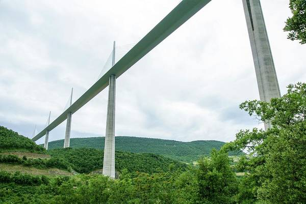 Paysage Photograph - Millau Viaduct by Photostock-israel