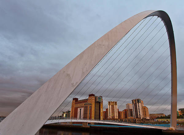 Gateshead Millennium Bridge Photograph - Millenium Bridge by Andrewcoswayphotography