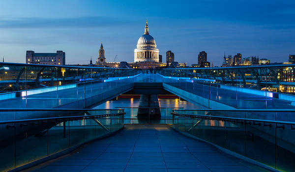 Millenium Bridge Blue Hour II Art Print