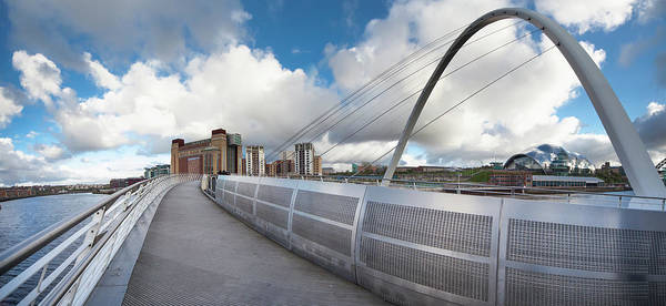 Gateshead Millennium Bridge Photograph - Millenium Bridge by John Short / Design Pics