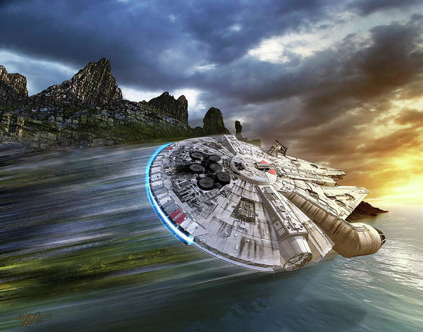Photograph - Millenium Falcon In Search Of Luke by Kurt Miller