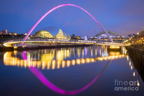 Millenium Photograph - Millennium Bridge - Newcastle by Brian Jannsen
