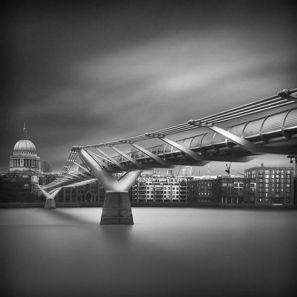 Cathedral Photograph - Millennium Bridge by Ahmed Thabet