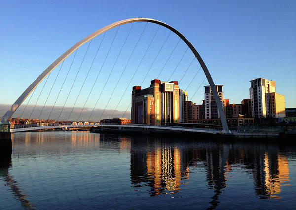 Gateshead Millennium Bridge Photograph - Millennium Bridge by William Nilly