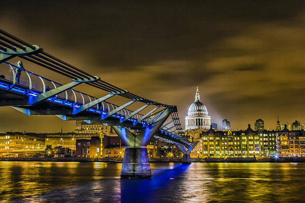 Wall Art - Photograph - Millennium Bridge With St Pauls by Ian Hufton