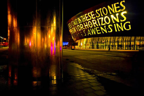 Photograph - Millennium Centre And Water Tower by Meirion Matthias