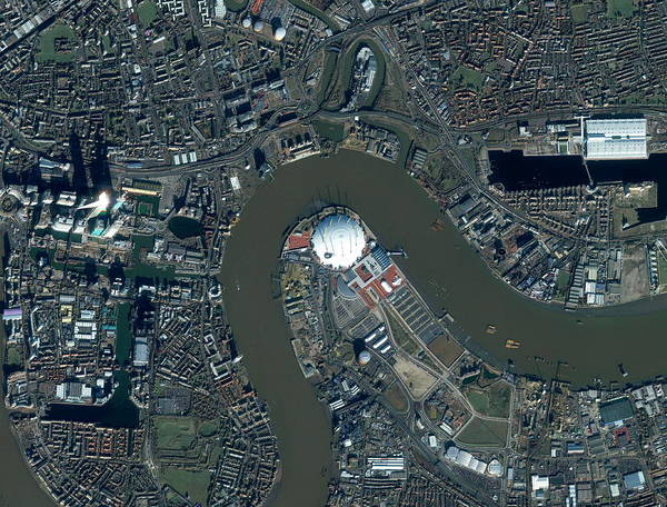 Wall Art - Photograph - Millennium Dome by Geoeye/science Photo Library