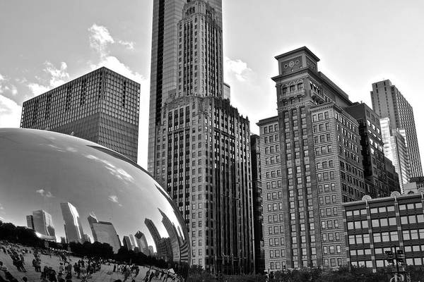 Millenium Photograph - Millennium Park Black And White by Frozen in Time Fine Art Photography