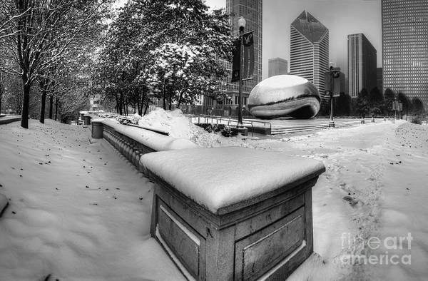 Millennium Park Photograph - Millennium Park In Winter by Twenty Two North Photography