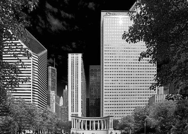 Photograph - Millennium Park Monument - The Colonnade - Wrigley Square Chicago by Christine Till