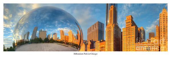 Millennium Park Photograph - Millennium Park Morning by Twenty Two North Photography