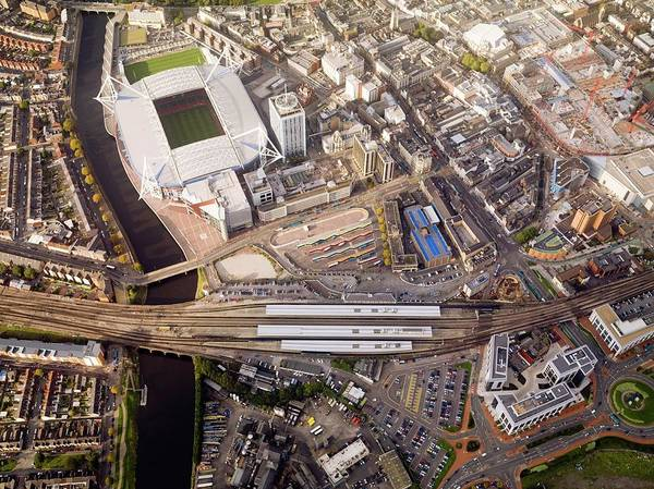 Cardiff Photograph - Millennium Stadium by Getmapping Plc/science Photo Library