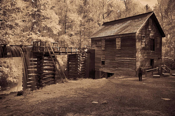 Millrace Wall Art - Photograph - Miller At Mingus Mill  by Priscilla Burgers