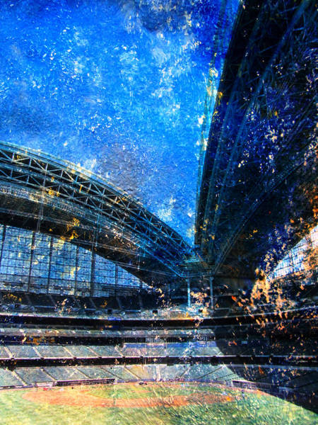 Digital Art - Miller Park 1 W Paint by Anita Burgermeister