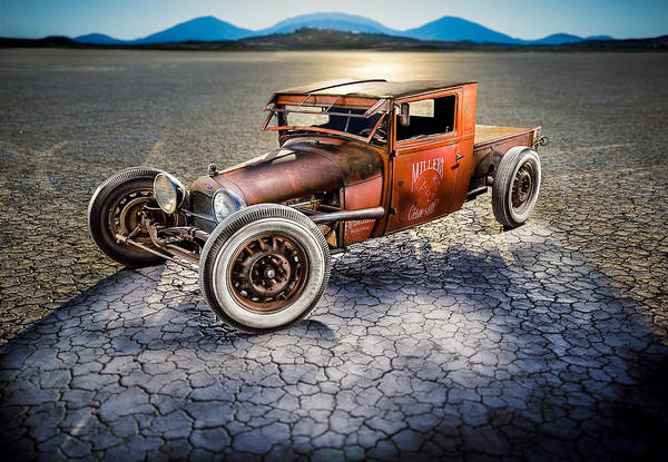 Painted Desert Photograph - Millers Chop Shop 1929 Model A Truck by Yo Pedro