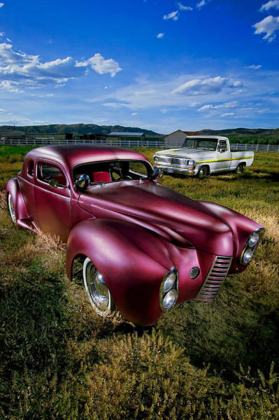 1940 Ford Coupe Photograph - Millers Chop Shop 1940 Ford Coupe by YoPedro