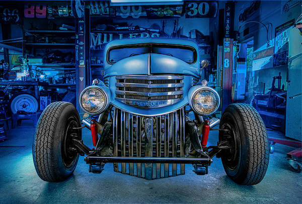 Street Machine Photograph - Millers Chop Shop 1946 Chevy Truck by Yo Pedro