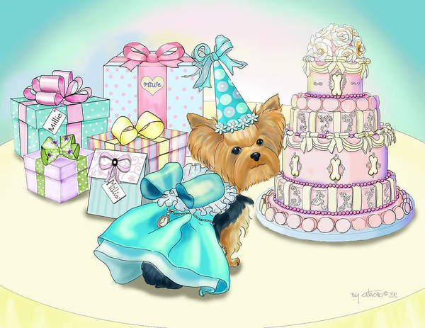 Mixed Media - Millie Larue Birthday Party by Catia Lee