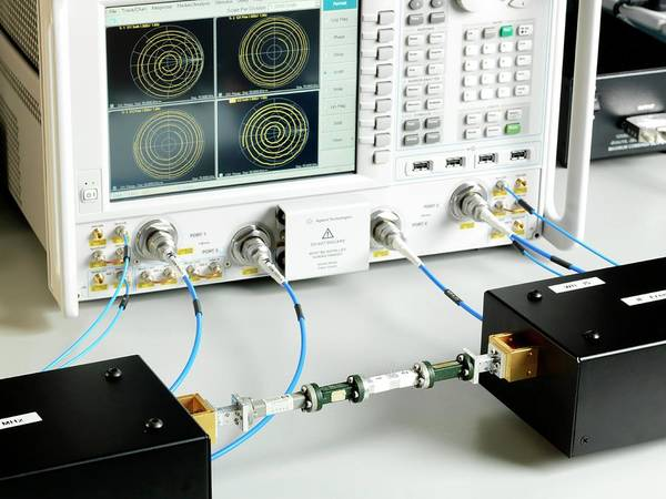 Wavelength Photograph - Millimetre Radio Waveguide Testing by Andrew Brookes, National Physical Laboratory