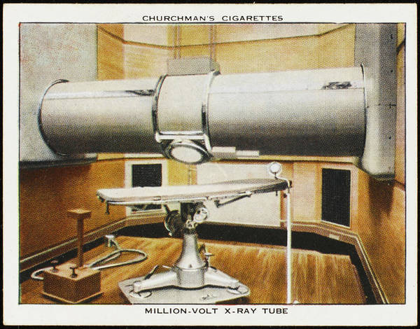Developed Drawing - Million Volt X-ray Tube;  Developed by Mary Evans Picture Library
