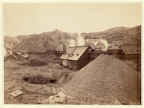 Lead Mine Wall Art - Photograph - Mills And Mines. Part Of The Great Homestake Works by Litz Collection