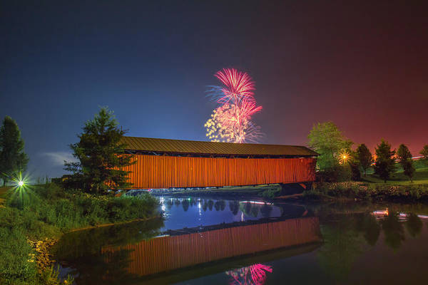 Photograph - Milton Covered Bridge by Mary Almond