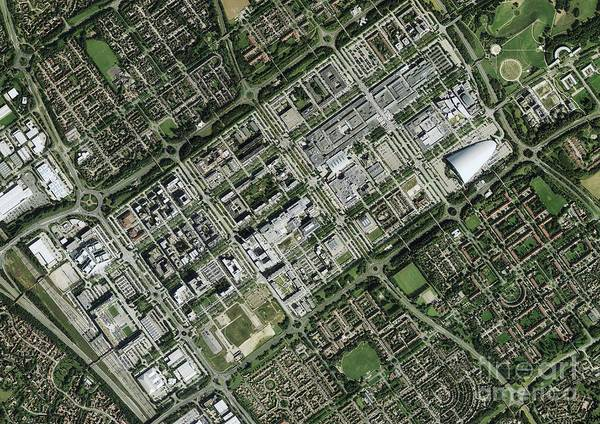 Road Map Photograph - Milton Keynes, Aerial Photograph by Getmapping Plc