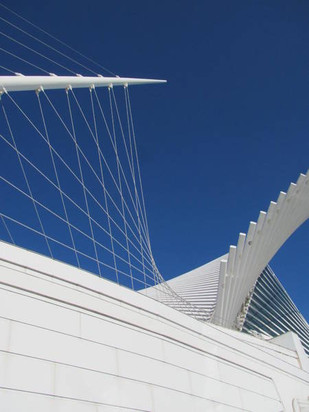 Photograph - Milwaukee Art Museum Closeup 6 by Anita Burgermeister