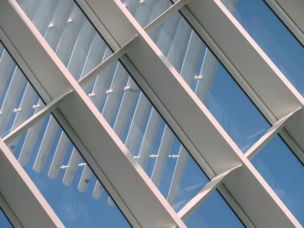 Photograph - Milwaukee Art Museum Window 2 by Anita Burgermeister