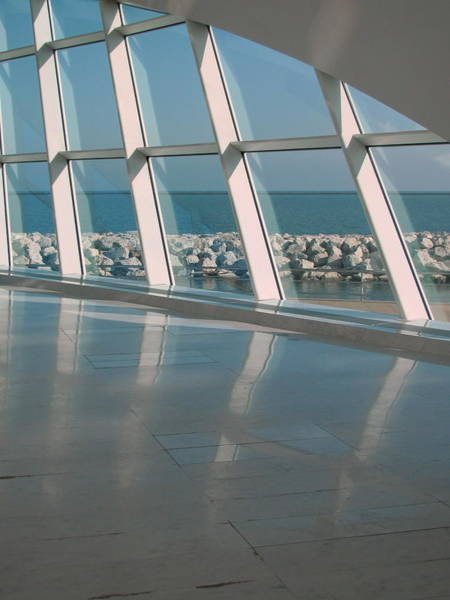 Photograph - Milwaukee Art Museum Window 3 by Anita Burgermeister