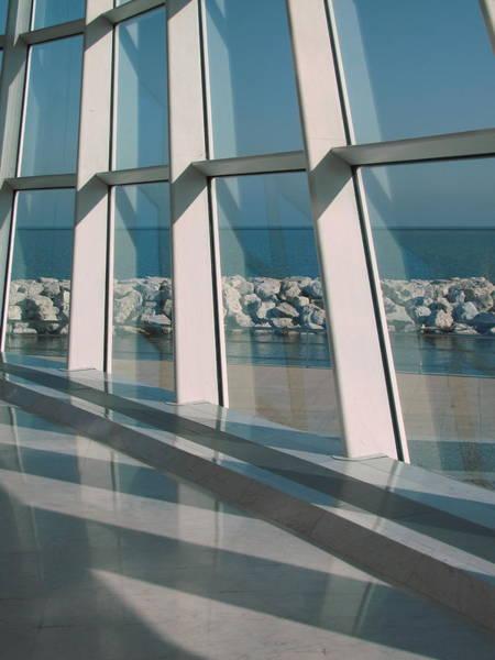 Photograph - Milwaukee Art Museum Window 4 by Anita Burgermeister