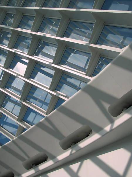 Photograph - Milwaukee Art Museum Window 6 by Anita Burgermeister