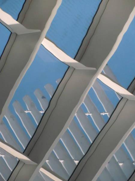 Photograph - Milwaukee Art Museum Window Reflection 1 by Anita Burgermeister