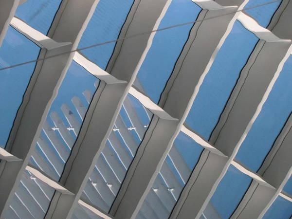 Photograph - Milwaukee Art Museum Window Reflection 2 by Anita Burgermeister