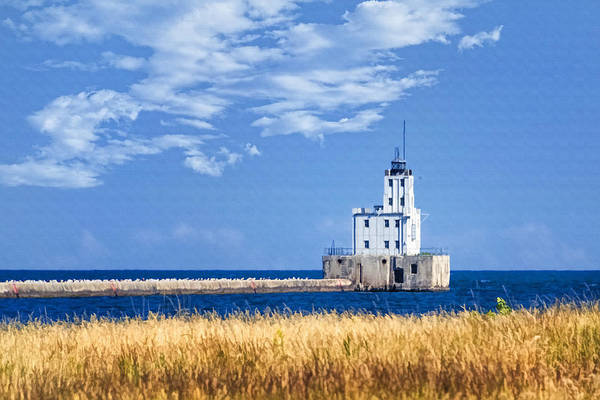 Photograph - Milwaukee Breakwater by Joan Carroll