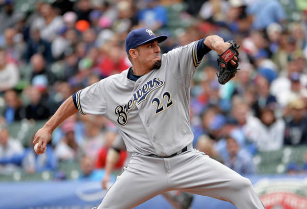 Baseball Pitcher Photograph - Milwaukee Brewers V Chicago Cubs by Brian Kersey