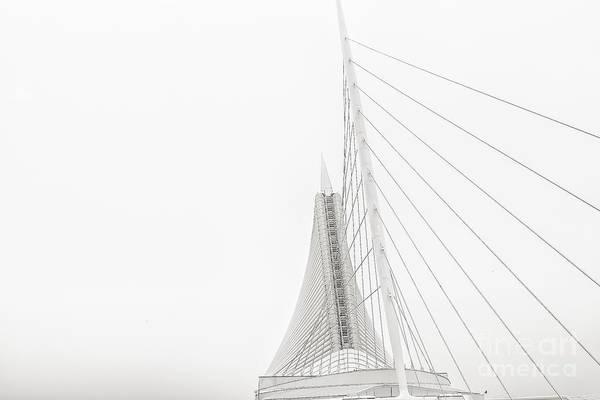 Photograph - Milwaukee Museum Of Art Mast Light by David Haskett II