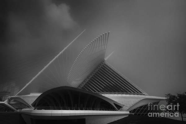Photograph - Milwaukee Museum Of Art Side  by David Haskett II