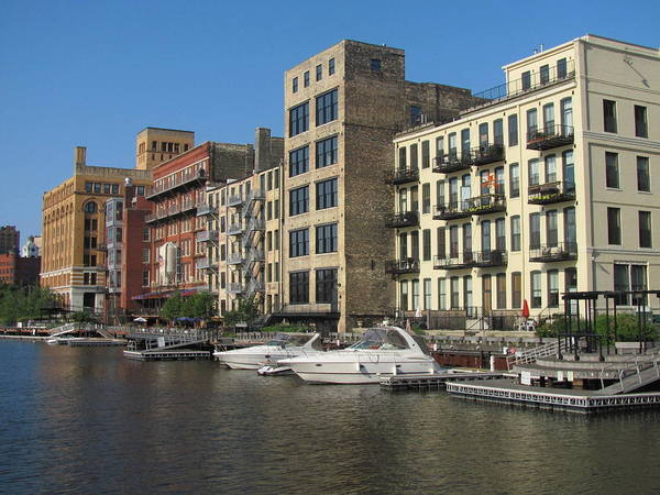 Photograph - Milwaukee River Architecture 3 by Anita Burgermeister