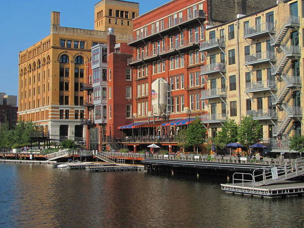 Photograph - Milwaukee River Architecture 4 by Anita Burgermeister