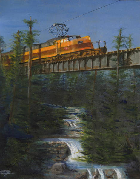 Wall Art - Painting - Milwaukee Road's Wilderness by Christopher Jenkins