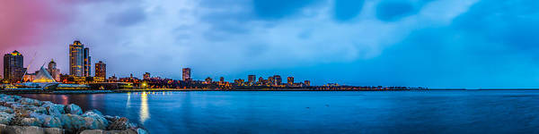 Photograph - Milwaukee Skyline - Version 2 by Steven Santamour