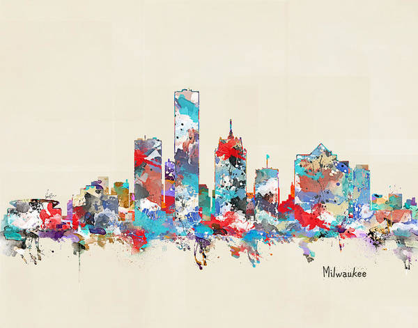 Wisconsin Wall Art - Painting - Milwaukee Wisconsin by Bri Buckley