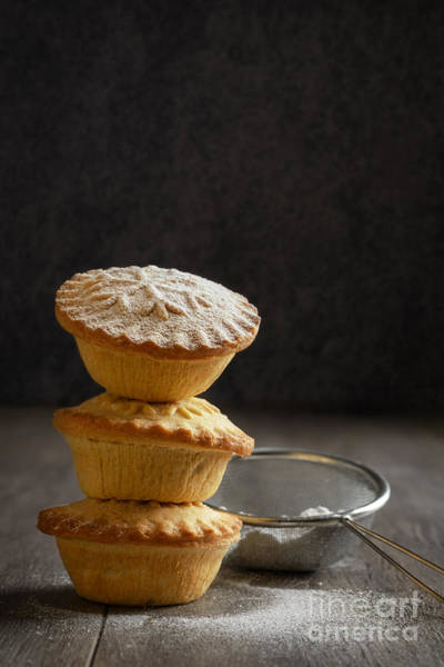Icing Sugar Wall Art - Photograph - Mince Pie Stack by Amanda Elwell