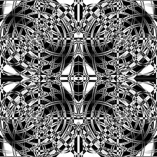 Illusion Digital Art - B W Sq 10 by Mike McGlothlen